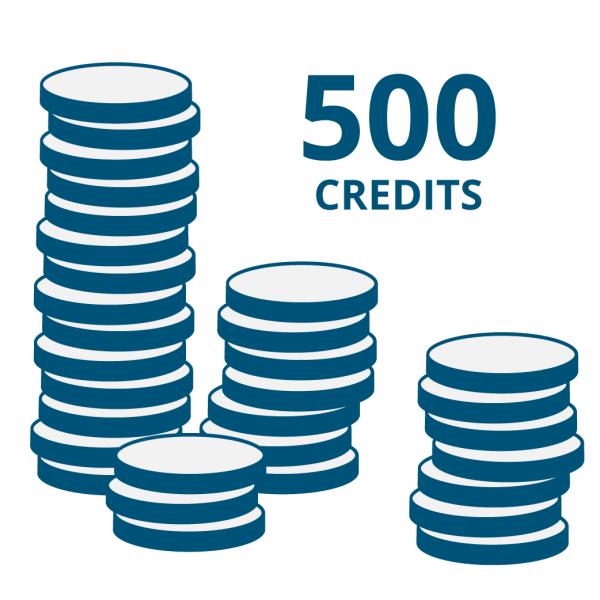 """Guthaben für Onlinecode-Funktion der """"E Code"""" Produkte: 500 Credits"""