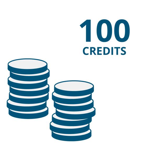 """Guthaben für Onlinecode-Funktion der """"E Code"""" Produkte: 100 Credits"""