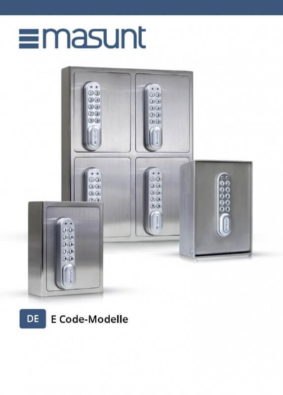 Bedienungsanleitung E Code Modelle